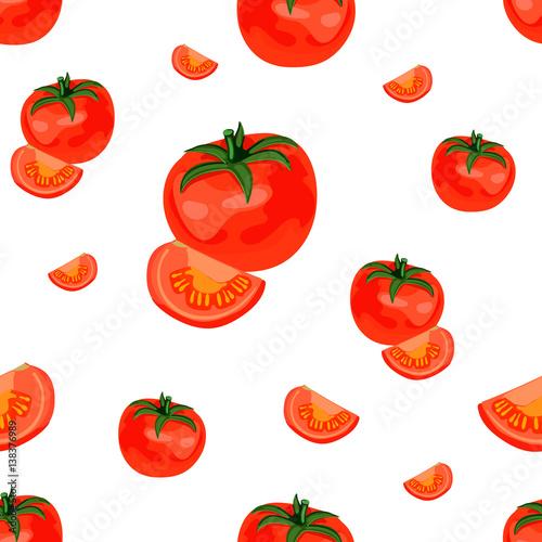 Seamless VECTOR pattern: tomato