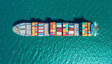 container ship in im...