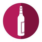 glass bottle wine liquor shadow vector illustration eps 10