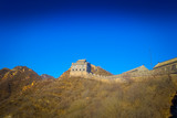 BEIJING, CHINA - 29 JANUARY, 2017: Fantastic view of impressive great wall on a beautiful sunny day, located at Juyong tourist site
