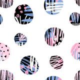 Textured Circles Pattern - 138467522