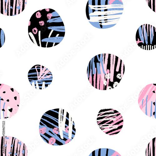 Stoffe zum Nähen Strukturierte Kreis-Muster
