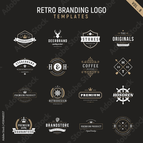 Canvas Hipster Hert retro vintage logo branding