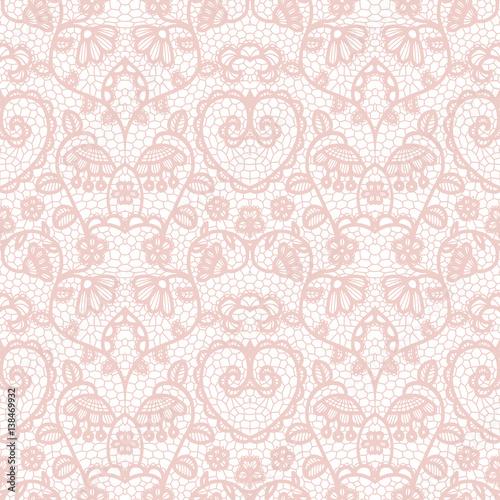 Fototapeta Lace seamless pattern with flowers