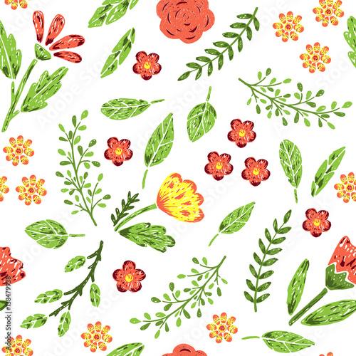 Fototapeta Hand drawn seamless pattern
