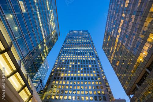 Poster London office building skyscraper, working & meeting