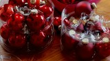 Christmas Red Balls in Transparent Plastic Boxes