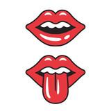 Fototapety Red lips illustration