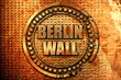 berlin wall, 3D rendering, metal text