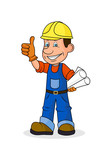 Icon cheerful worker - 138530191