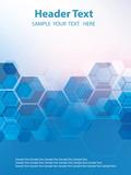 Vector Abstract geometric background. Template brochure design. Blue hexagon shape