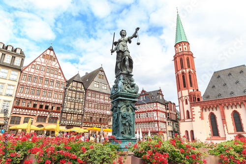 old town square romerberg with Justitia statue