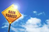 rainforest, 3D rendering, traffic sign