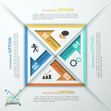 Modern Infographic Numbered Template