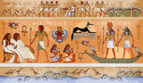 Ancient Egypt scene, mythology. Egyptian gods and pharaohs - 138583970