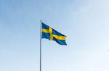 Svenska flaggan vajar i vinden 1/2
