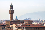 above view of Palazzo Vecchio in Florence