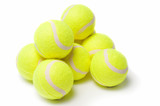 Tennis balls isolated on a white background
