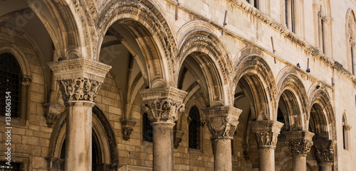 Colonnade of Rector's Palace in Old Town Dubrovnik Poster