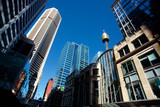 skyline of the CBD central business district of Sydney city.