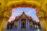 Marble Temple or Wat Benchamabophit, Bangkok, Thailand (public temple no ticket fee)