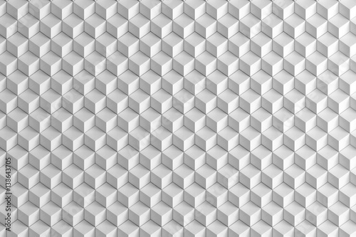 Fototapeta Abstract White Boxes stair texture background 3d