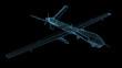 3d wireframe render of drone or UAV