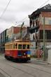 Tram in destroyed christchurch