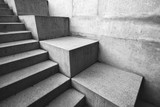 Concrete staircase as abstract architectural background