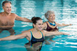 Quadro People exercising in pool