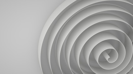 Abstract background with spirals, 3 d render