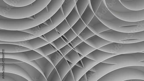 Fototapeta Abstract background with spirals, 3 d render