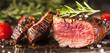 Leinwandbild Motiv Filetfleisch vom Grill (Grillzeit)