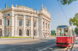 Wiener Burgtheater with traditional tram, Vienna, Austria