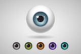 Eyeball and colored irises