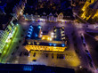 City Hall of Kolobrzeg, night view from above