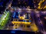 City Hall of Kolobrzeg, night view from above - 138697944