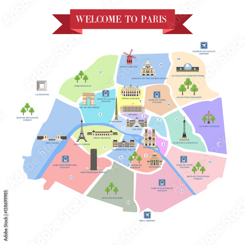 Paris Map With Attractions.Detailed Map Of Paris Attractions Buy Photos Ap Images Detailview