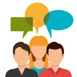 community social network icon vector illustration design