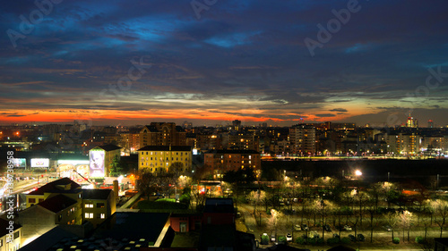 Fotobehang Milan Milano city view after sunset