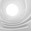Futuristic Circular Tunnel Background