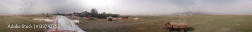 Panaromik köy çayırlık alanı