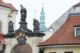 Roofs in a center of Prague