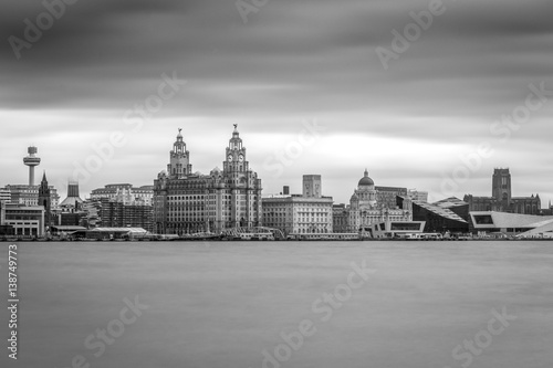 Poster Liverpool Merseyside UK world famouse water front
