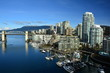 Skyline of Vancouver Canada and False Creek