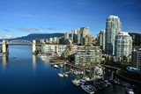 Skyline of Vancouver Canada and False Creek