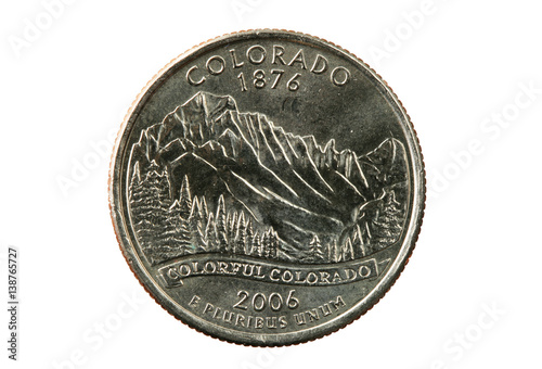 Colorado state quarter Poster