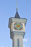 Clock tower of Kiev Academic Puppet Theater in Kiev, Ukraine.