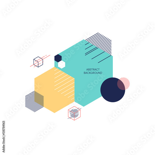 Abstract polygon modern geometric composition background