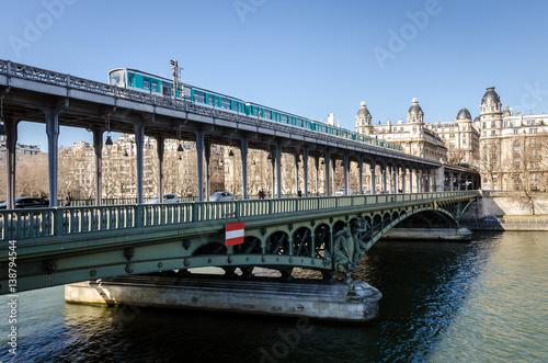 Poster Paris Pont de Bir-Hakeim